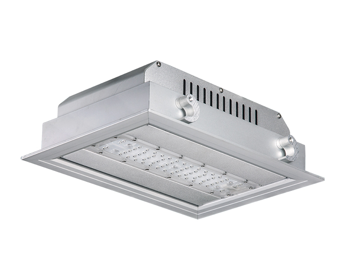 Economical 60w ATEX Recessed LED Toll station Light