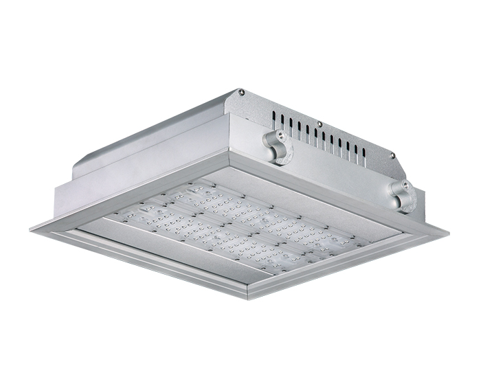 Economical 120w ATEX Recessed LED Gas Station Light