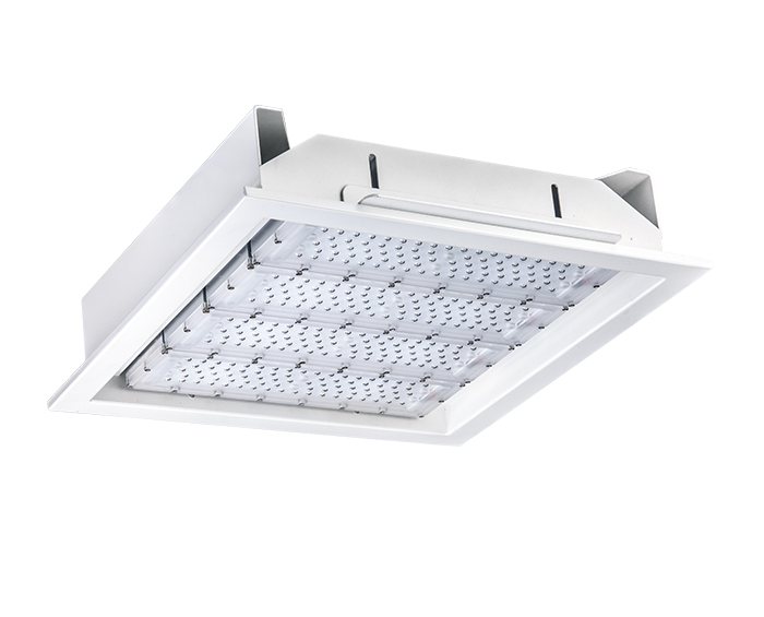 160w Recessed led canopy lights for gas station